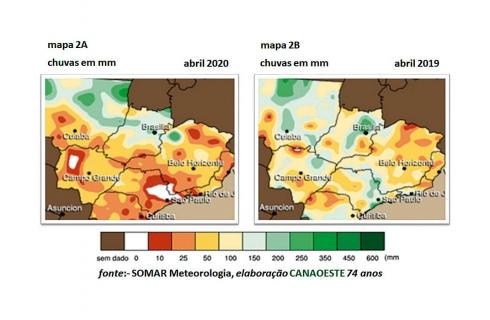 Chuvas de abril de 2020 & Previsões de junho até agosto