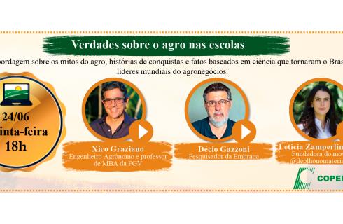 As verdades sobre o agro nas escolas serão discutidas em evento on-line realizado pela Copercana