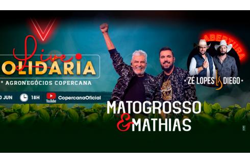 Entenda como vai funcionar a live solidária com Matogrosso e Mathias