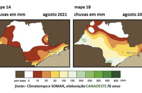 Chuvas de agosto de 2021 & previsões para outubro a dezembro